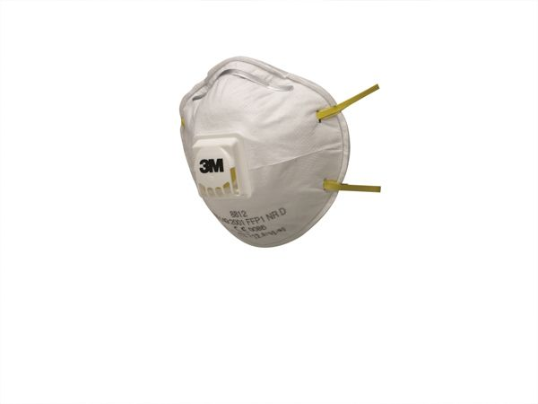 3M 8812 FFP1 Valved Cup-Shape Dust/Mist Respirator - Pack of 10