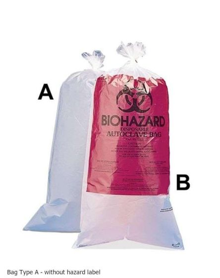 Plain Disposal Bags 30x61cm Pack of 100-13160-0005-Camlab