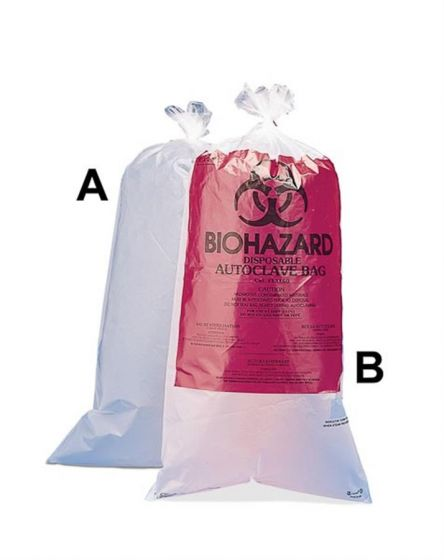 Biohazard Printed Bag 61x91cm with sterilisation patch Pack of 100-13162-0009-Camlab