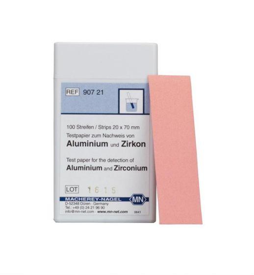 ALUMINIUM (ZIRCONIUM) test paper box of 100 strips 20 x 70 mm
