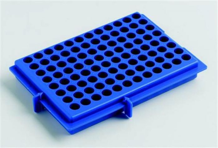 X-Y Polypropylene Rack- reversable  Blue For 0.5ml/2ml tubes