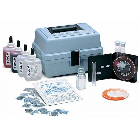 Hardness, Iron, and pH Test Kit, Model HA-62, Color Disc-183700-Camlab