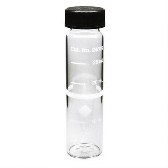 Sample Cell 10-20-25ml, 25mm round, Screw Cap, pack of 6