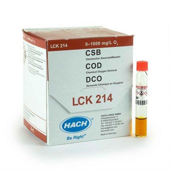 13mm COD Vials Hg Mercury Free 0-1000mg/l Pack of 25-LCK214-Camlab