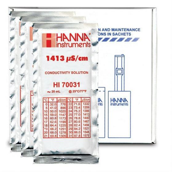 1413µs Conductivity Solution Sachets Pack of 25 x 20ml each