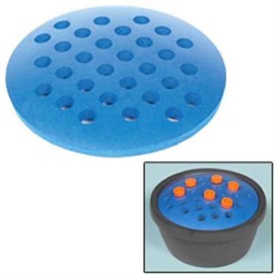 Round PVC Rack For 30 x 15ml Tubes Blue