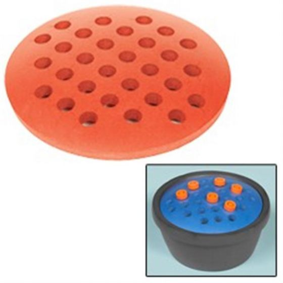 Round PVC Rack For 30 x 15ml Tubes Red