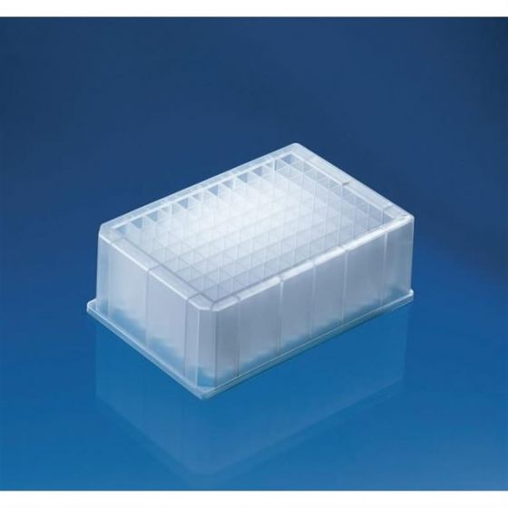 96 Deep Well Plate 2.2ml PP non-sterile Pack of 24-701354-Camlab