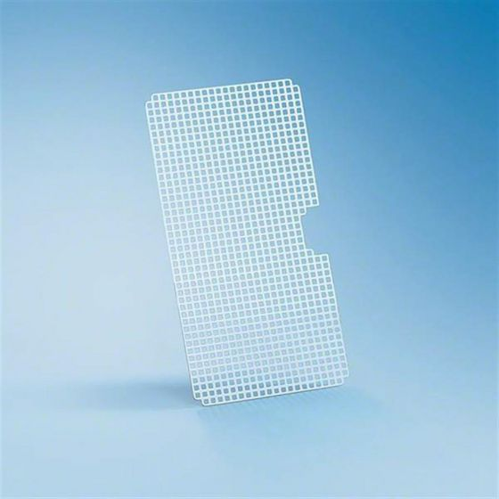 A 12/1 Stainless steel half width insert, 7mm x 7mm perforations