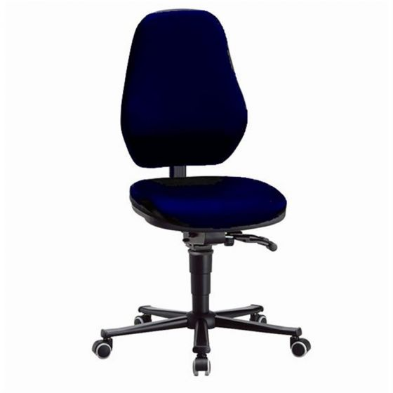 Laboratory Basic 2 Blue fabric upholstery lab chair with castors