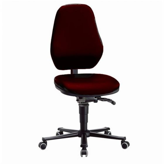 Laboratory Basic 2 Red synthetic leather lab chair with seat inclination
