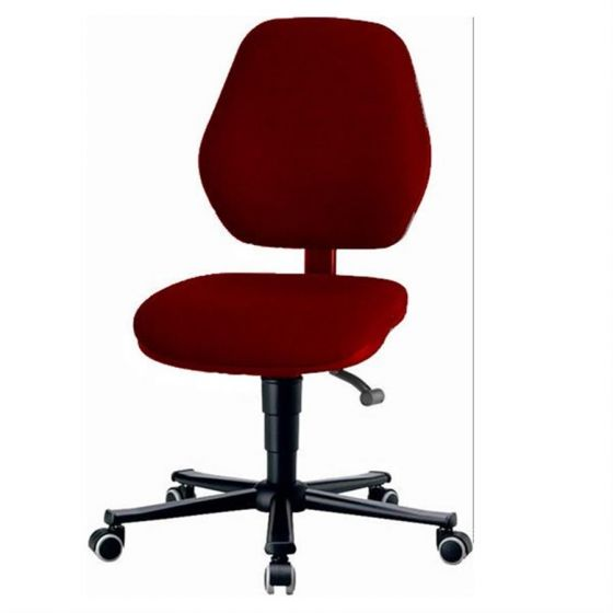 Laboratory Basic 2 Red fabric upholstery lab chair with seat inclination