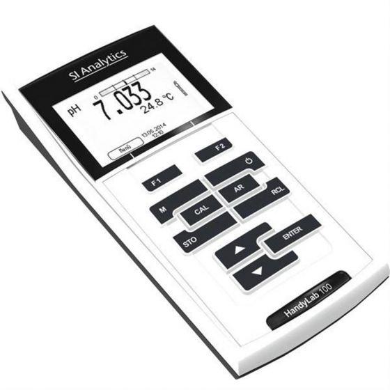 HandyLab 100 pH-Meter HL100/K in a case with solutions - no electrode