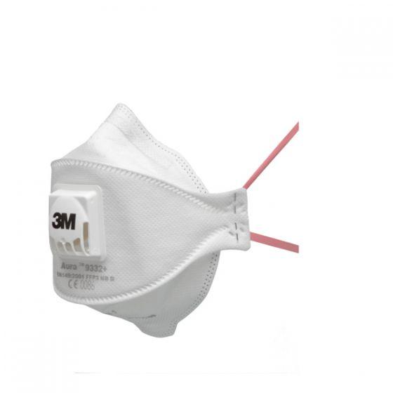 3M 9332+ Aura FFP3 Valved Dust/Mist Respirators