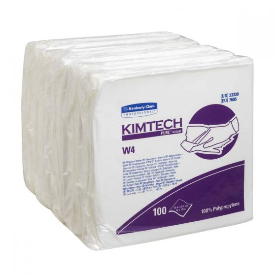 7605 KIMTECH Pure* W4 Wipers - 5 x 100 Large Sheets