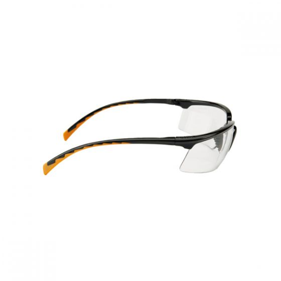 3M™ 7150502 Solus Spectacles - Black-Orange PC Clear Lens