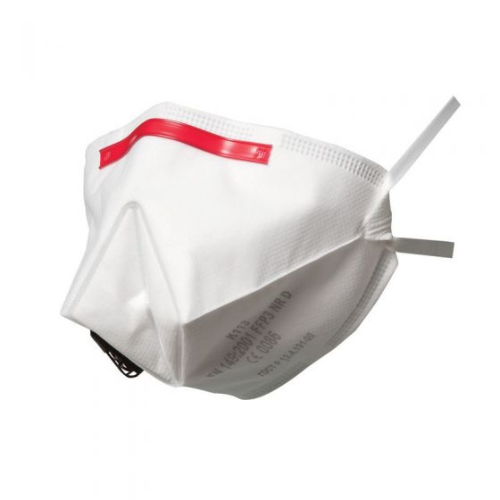 3M K113 FFP3 Fold-Flat Valved Dust/Mist Respirator - Individually Wrapped - Pack of 10