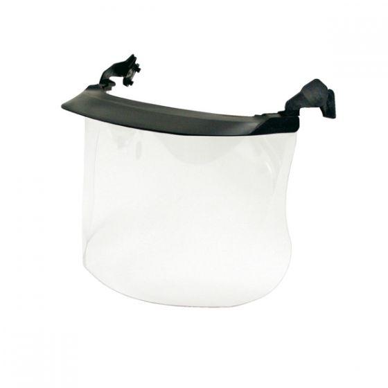 Clear visor polycarbonate 1mm peak Pack of 10