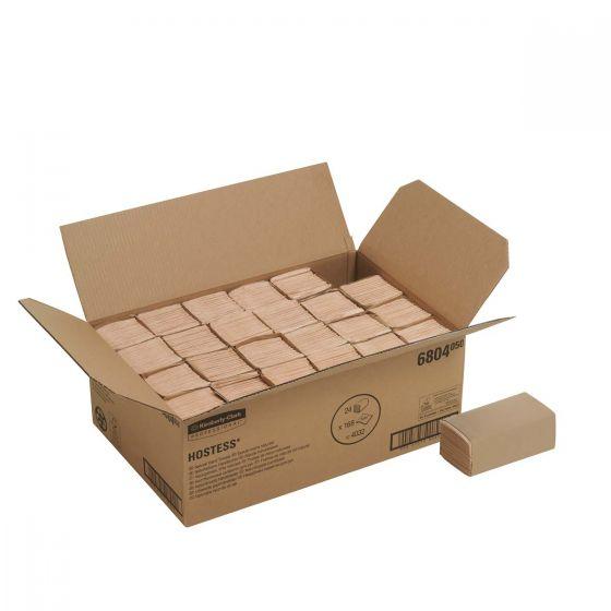 6804 HOSTESS Hand Towels - C Fold/Small - Natural - 24 x 168 Sheets
