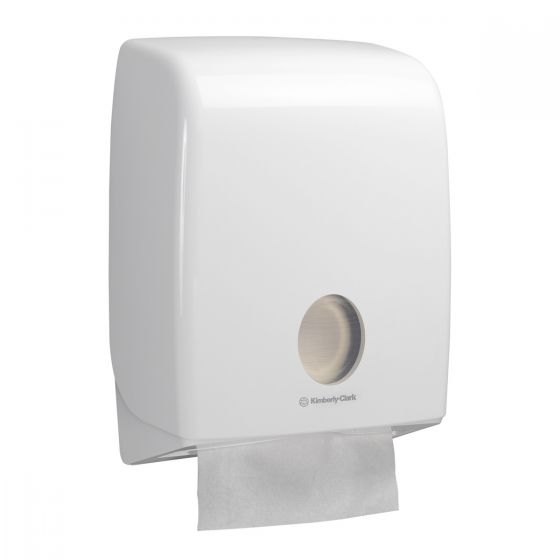 6954 AQUARIUS Folded Hand Towel Dispenser - C Fold - White
