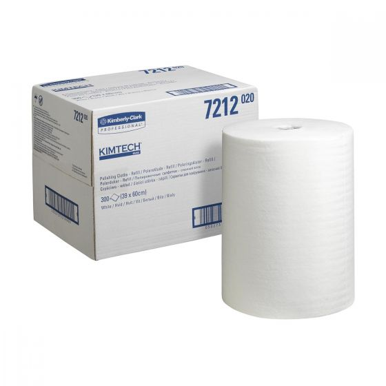 7212 KIMTECH Polishing Cloths - 300 Sheet Refill