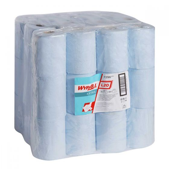 7296 WYPALL L20 EXTRA Wipers - Small Roll - Blue - 36 x 135 Sheets