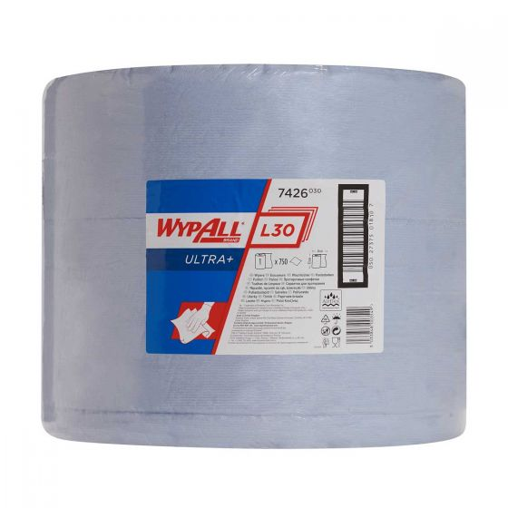7426 WYPALL L30 ULTRA+ Wipers - Blue - Large Roll x 750 Sheets