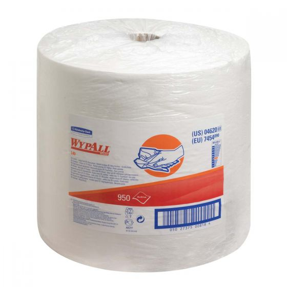 7454 WYPALL L40 Wipers - Large Roll - White x  950 Sheets
