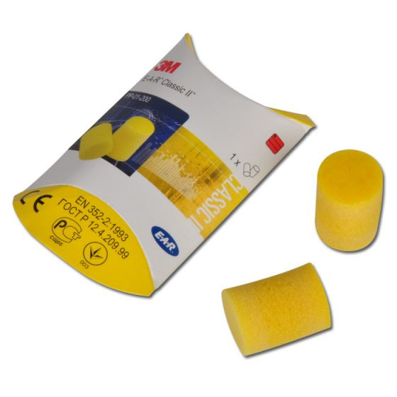 PP-01-002 3M™ E-A-R Classic Uncorded Ear Plugs Pillow Pack containg 1 pair