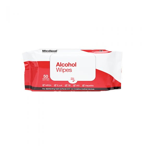 S610110MPCE Medipal Alcohol Wipes - 70% IPA - Soft Pack - 24 x 50 Sheets