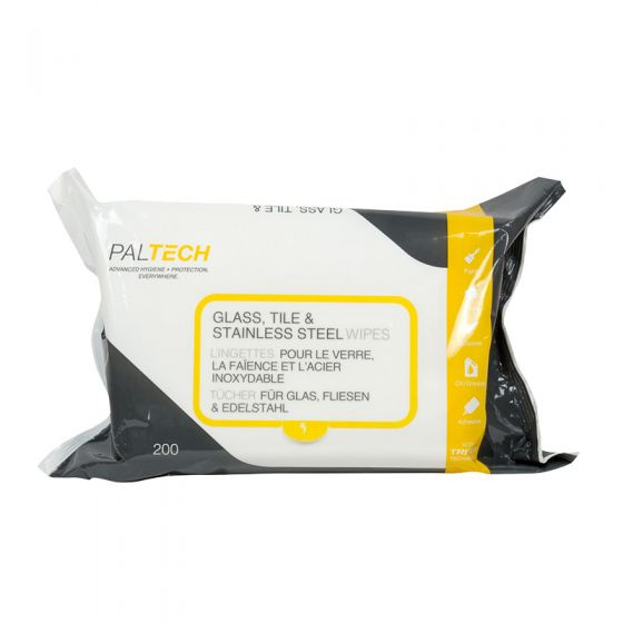 S810110PT Pal Tech Glass, Tile & Stainless Steel Wipes - 6 x 200 Sheets