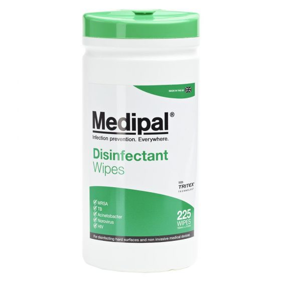 W615110MPCE Medipal Disinfectant Wipes - Alcohol Free - 10 x 225 Sheet Canisters - 2 L