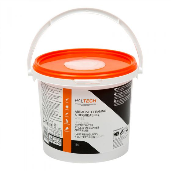W820520PT Pal Tech Abrasive Cleaning & Degreasing Wipes - 4 x 150 Sheet Buckets