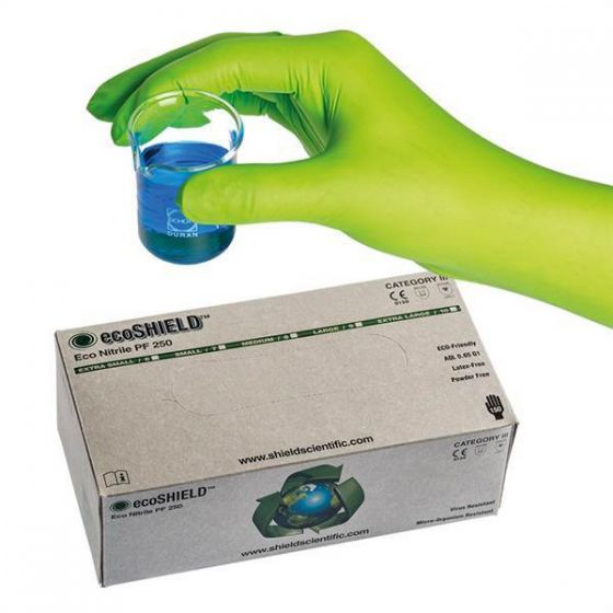 ecoSHIELD Eco Nitrile Powder Free Gloves - Cases of 1,500 gloves