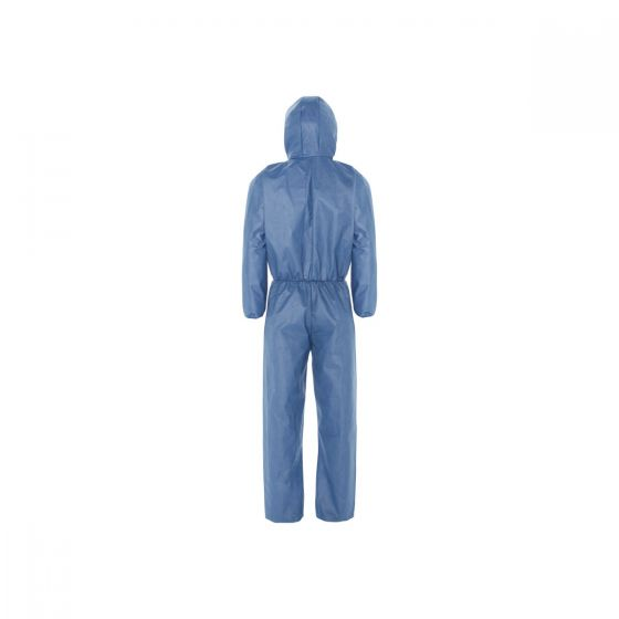 KLEENGUARD A50 Breathable Splash & Particle Protection Coveralls - Hooded/XL Blue 25 Garments