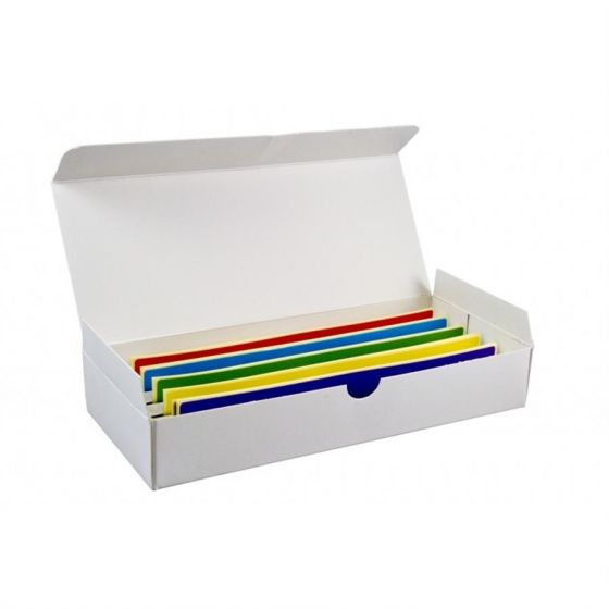 Rainbow adhesive 200x40mm labels for cryo boxes pack of 50 multi coloured labels-5120002-Camlab