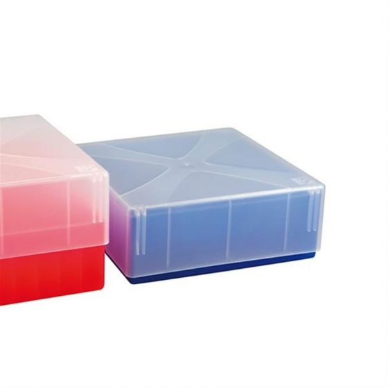 Cryo-Boxes PP grid 10 x 10 blue 133 x 133 x 50/75 mm combi-lid  Pack of 5-5320114-Camlab