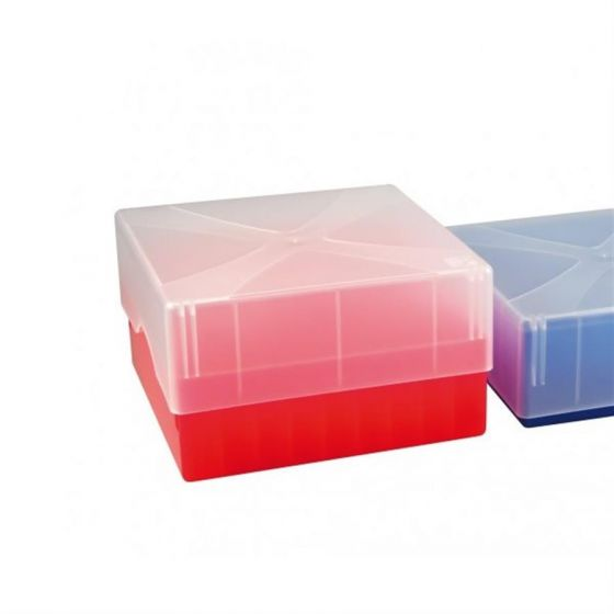 Cryo-Boxes PP grid 9 x 9 red 133 x 133 x 50/75 mm combi-lid  Pack of 5-5320012-Camlab