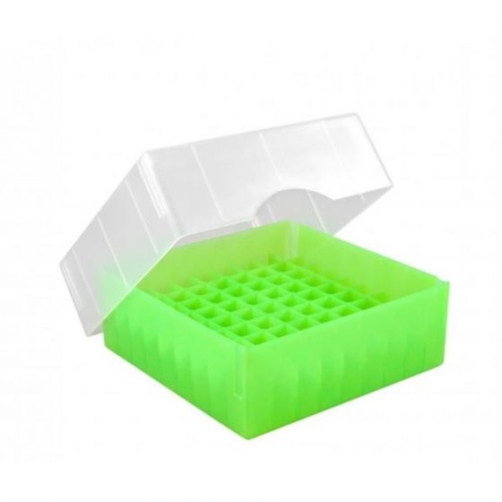 Cryo-Boxes PP grid 9 x 9 green 133 x 133 x 50/75 mm combi-lid  Pack of 5-5320013-Camlab