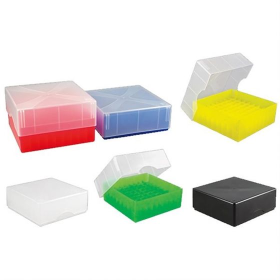 Cryo-Boxes PP grid 9 x 9 mixed 133 x 133 x 50/75 mm combi-lid  Pack of 5-5320016-Camlab