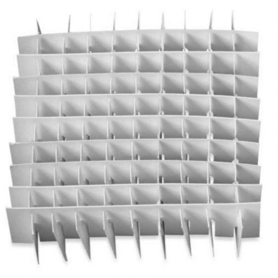 Dividers for NBS Plastic- Coated Cardboard Boxes Max.  13.0 mm Matrix 9x9 81 Tubes/Vials-D81-Camlab