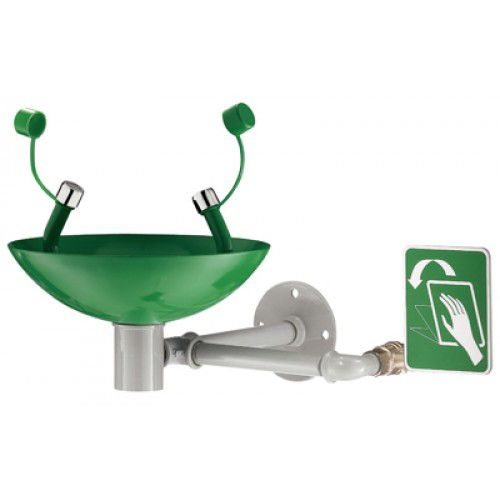Range DL - Eye-wash - Wall mounted hand operating Stainless steel bowl