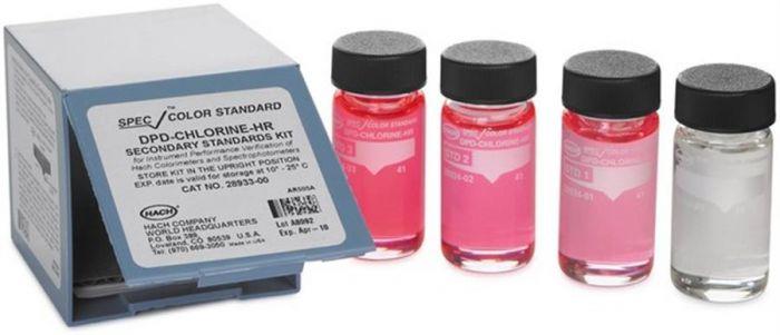 SpecCheck Secondary Gel Colour Standards Set HR DPD Chlorine