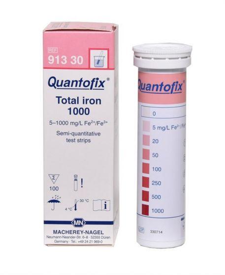 QUANTOFIX Total Iron 1000 box of 100 test sticks 6 x 95mm