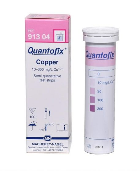 QUANTOFIX Copper box of 100 test sticks 6x95 mm