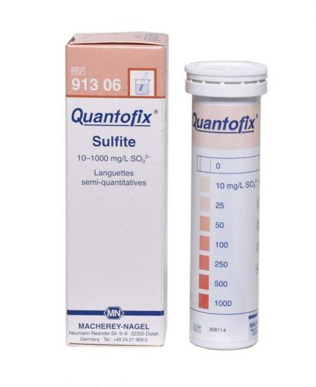 QUANTOFIX Sulphite box of 100 test sticks 6x95 mm