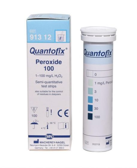 QUANTOFIX Peroxide 100 box of 100 test sticks 6 x 95 mm CE-Marked