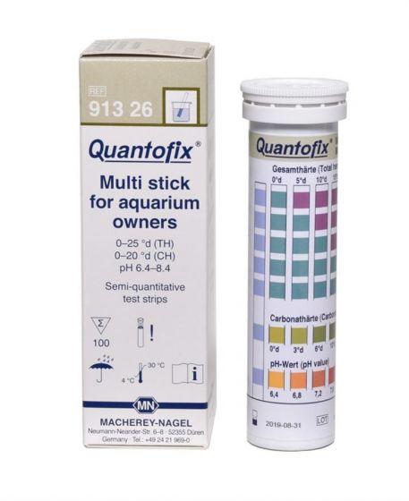 QUANTOFIX Aquarium Multistick Pack of 100, hardness (Ca and total) and pH