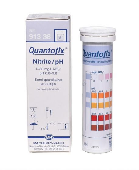 QUANTOFIX Nitrit/pH for cooling lubricants pack of 100 test sticks 6x95 mm