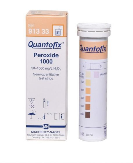 QUANTOFIX Peroxide 1000 box of 100 test sticks 6x95 mm